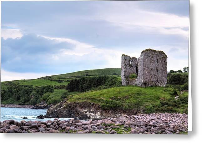 Minard Castle - Ireland Greeting Card by Joana Kruse