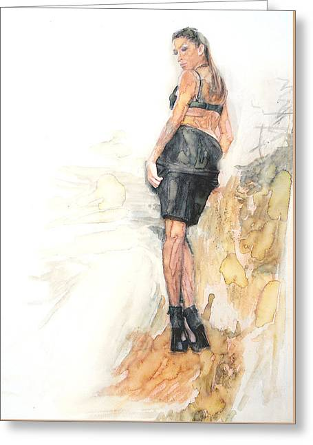 Famous Artist Greeting Cards - Model 5 Greeting Card by Jani Heinonen