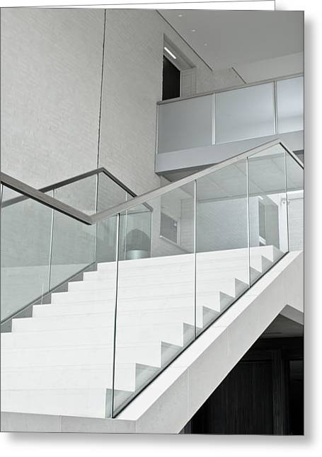 Modern Stairs Greeting Card by Tom Gowanlock