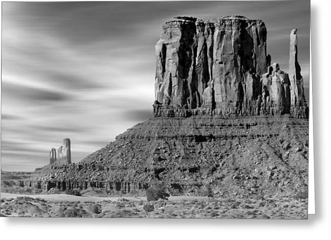 White Mittens Greeting Cards - Monument Valley Greeting Card by Mike McGlothlen