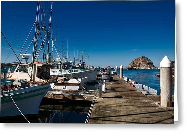 Morro Bay Harbor Greeting Card by Mountain Dreams