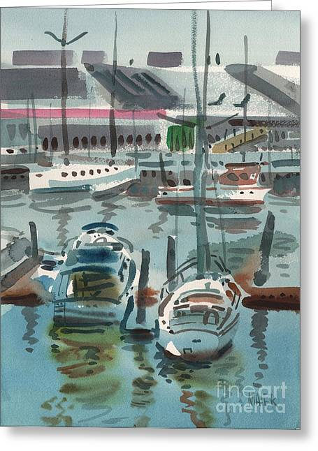 Yatch Greeting Cards - Moss Landing Greeting Card by Donald Maier