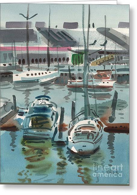 Moss Landing Greeting Card by Donald Maier
