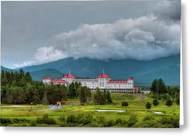 Mount Washington Hotel - Bretton Woods Nh Greeting Card by Joann Vitali