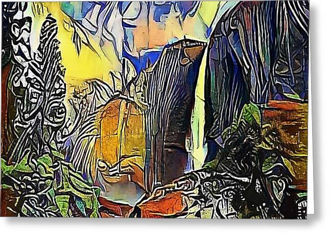 mountain waterfall - My WWW vikinek-art.com Greeting Card by Viktor Lebeda