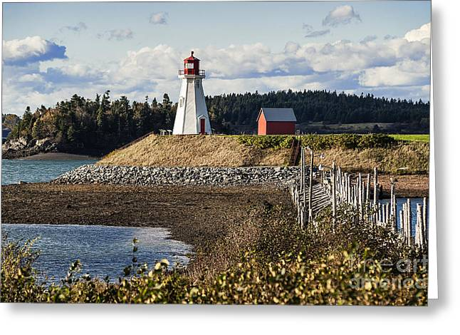 Coastal Maine Greeting Cards - Mulholland Lighthouse Greeting Card by John Greim