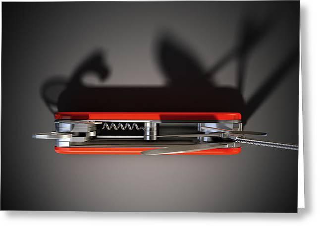 Kit Digital Greeting Cards - Multipurpose Penknife Greeting Card by Allan Swart