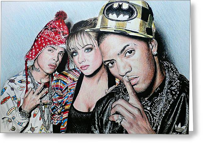 N Dubz Greeting Card by Andrew Read