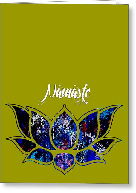 Yoga Greeting Cards - Namaste Greeting Card by Marvin Blaine