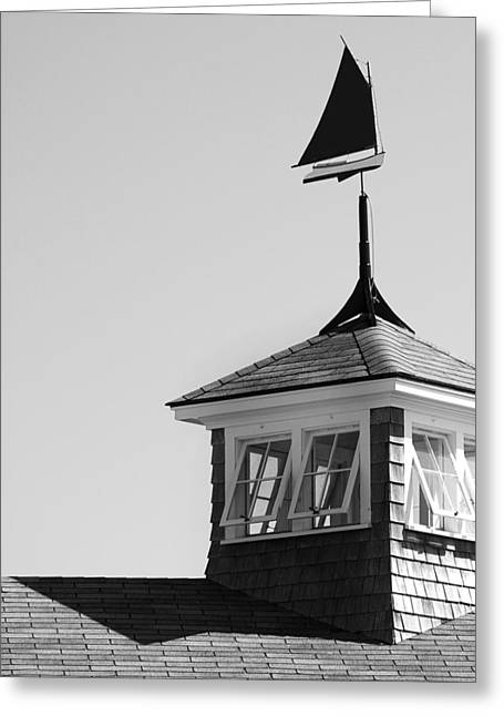 Cat Boat Greeting Cards - Nantucket Weather Vane Greeting Card by Charles Harden