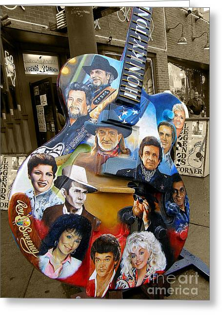 Fame Greeting Cards - Nashville Honky Tonk Greeting Card by Barbara Teller
