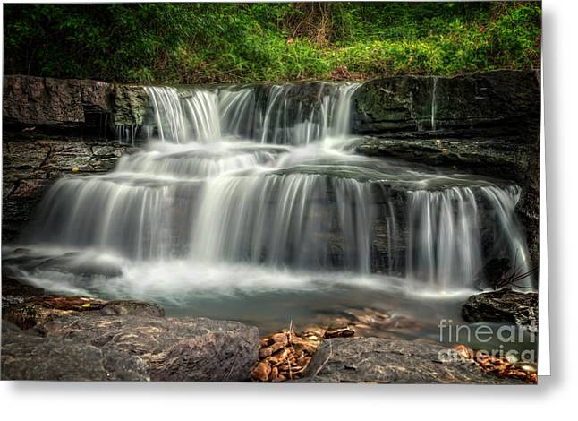 Arkansas Greeting Cards - Natural Dam Greeting Card by Larry McMahon