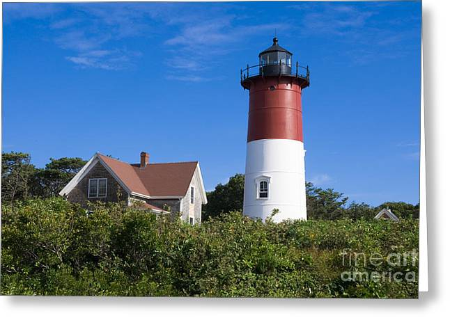 Guiding Light Greeting Cards - Nauset Light Greeting Card by John Greim