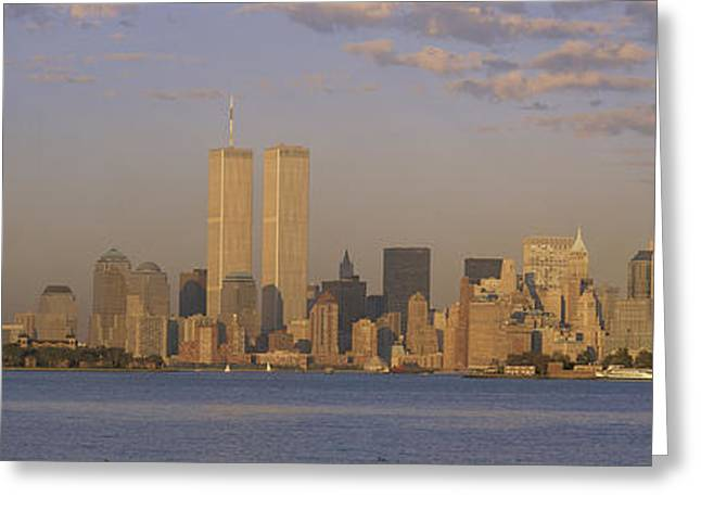Patriotic Scenes Greeting Cards - New York Ny Greeting Card by Panoramic Images