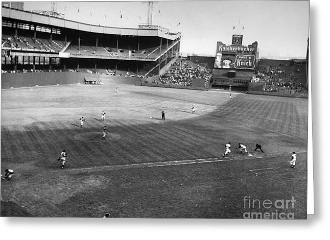 Polo Grounds Greeting Cards - New York: Polo Grounds Greeting Card by Granger