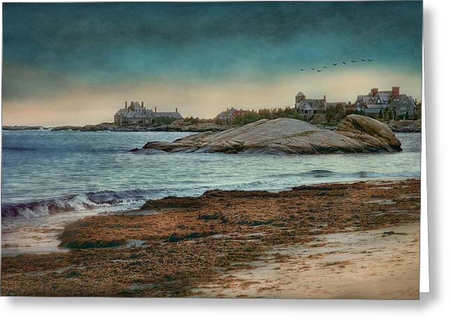 Newengland Greeting Cards - Newport State of Mind Greeting Card by Robin-lee Vieira