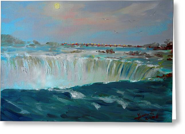 Ontario Greeting Cards - Niagara falls Greeting Card by Ylli Haruni