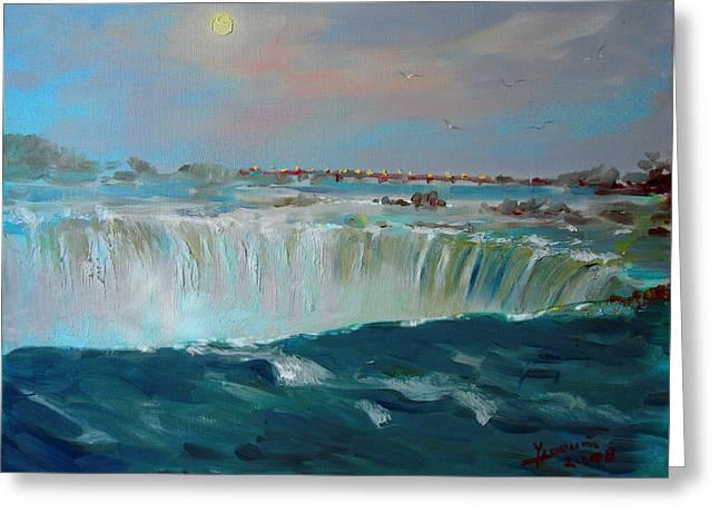 Dusk Greeting Cards - Niagara falls Greeting Card by Ylli Haruni