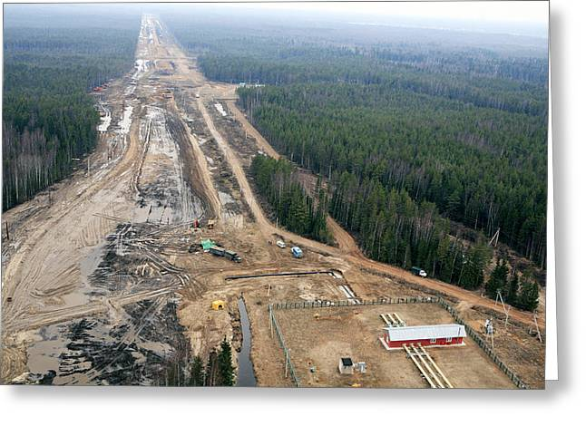 Nord Greeting Cards - North European Gas Pipeline Construction Greeting Card by Ria Novosti