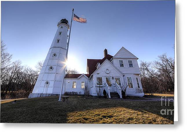 North Point Greeting Cards - North Point Lighthouse Greeting Card by Twenty Two North Photography