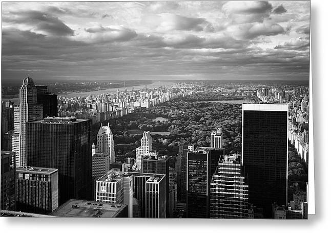 Bw Greeting Cards - NYC Central Park Greeting Card by Nina Papiorek