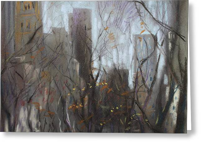 NYC Central Park Greeting Card by Ylli Haruni