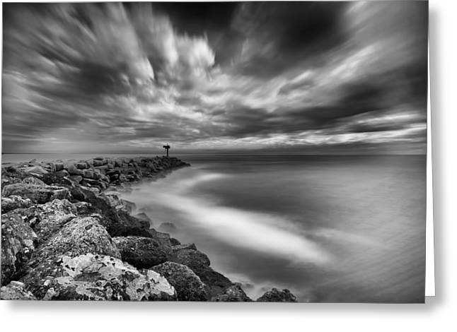 Exposure Greeting Cards - Oceanside Harbor Jetty 3 Greeting Card by Larry Marshall