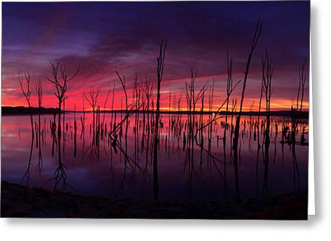 Manasquan Reservoir Greeting Cards - October Sunrise Greeting Card by Raymond Salani III
