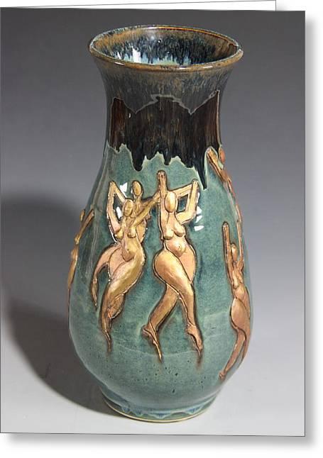 Ballet Dancers Ceramics Greeting Cards - Ode to Matisse the Dancers Greeting Card by Dan Earle