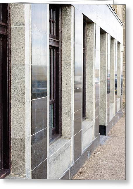 Brutalist Greeting Cards - Office building Greeting Card by Tom Gowanlock