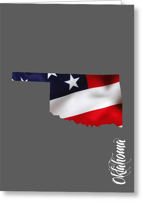 World Map Greeting Cards - Oklahoma State Map Collection Greeting Card by Marvin Blaine