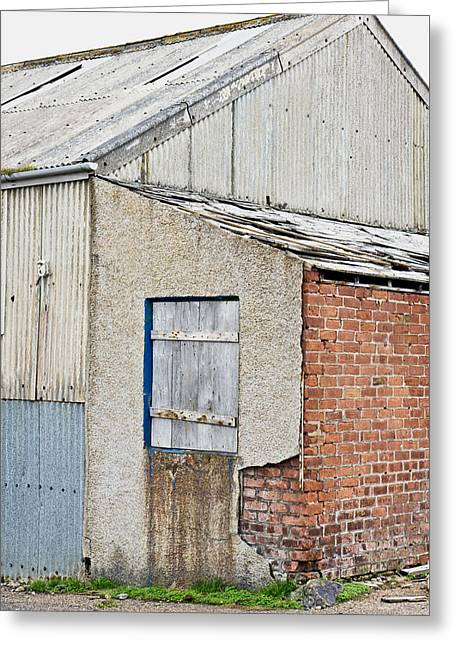 Old Barn Greeting Card by Tom Gowanlock