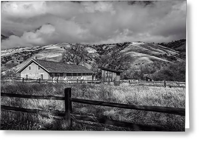 Canyon Country Greeting Cards - Old Barracks at Fort Tejon  Greeting Card by Mountain Dreams