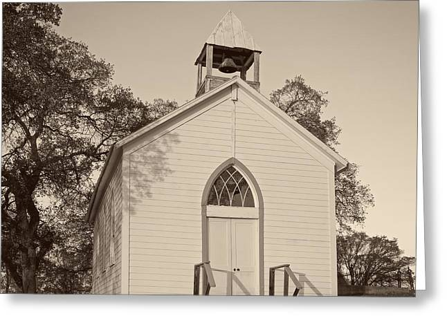 Entrance Door Greeting Cards - Old California Church Greeting Card by Mountain Dreams