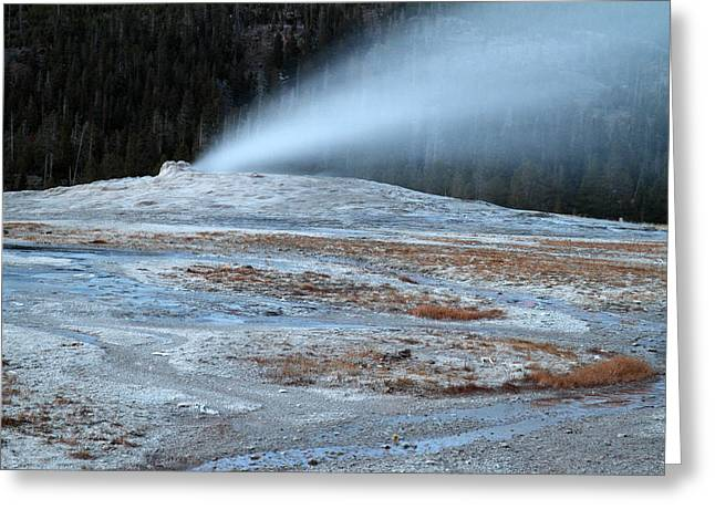 Old Faithful Geyser Greeting Cards - Old Faithful Yellowstone Greeting Card by Pierre Leclerc Photography