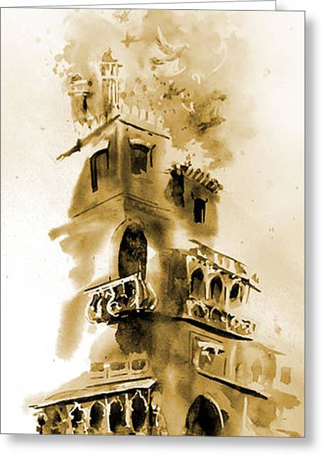 Nca Greeting Cards - Old Lahore Greeting Card by M Kazmi