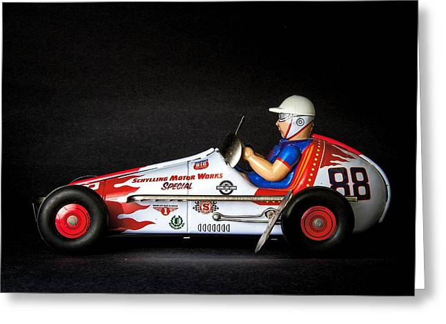 Old Race Car Greeting Card by Rudy Umans