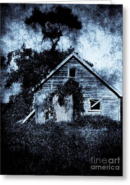 Shack Greeting Cards - Old Shack Greeting Card by Jamie Holbrook