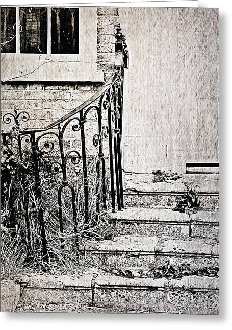 Old Steps Greeting Card by Tom Gowanlock