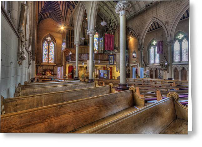 Olde Church Greeting Card by Ian Mitchell