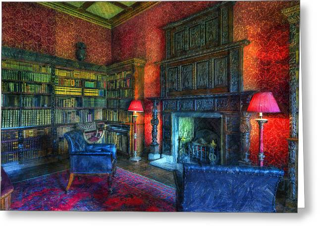 Olde Sitting Room Greeting Card by Ian Mitchell