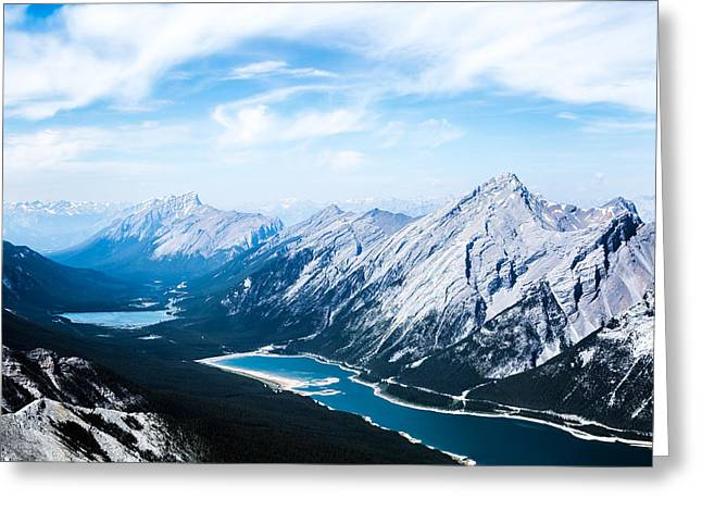 Canadian Pyrography Greeting Cards - Mountains #2 Greeting Card by Olga Photography