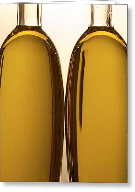 Abstract Food Greeting Cards - 2 Olive Oil Bottles Greeting Card by Frank Tschakert