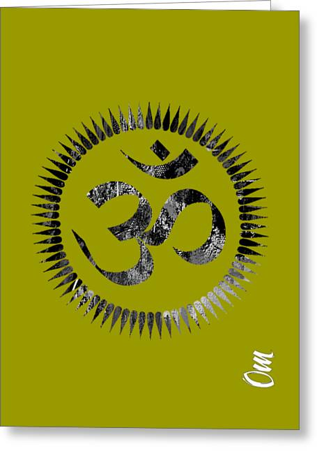 Om Collection Greeting Card by Marvin Blaine