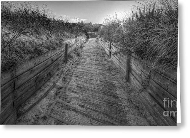 Onekama In Black And White Greeting Card by Twenty Two North Photography