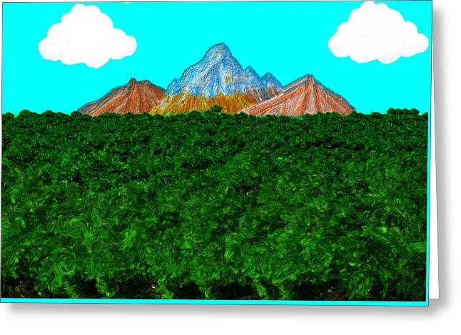Fruit Tree Art Greeting Cards - Orchard at the Mountains Greeting Card by Bruce Nutting