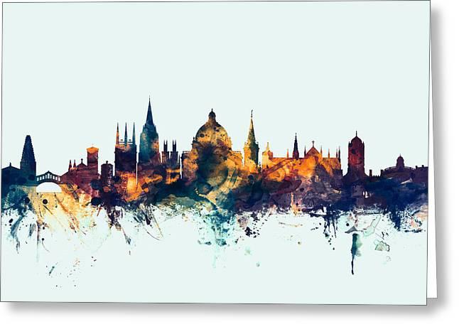 Oxford England Skyline Greeting Card by Michael Tompsett