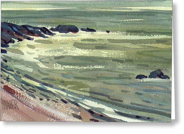 Pacific Coast Greeting Cards - Pacific Evening Greeting Card by Donald Maier