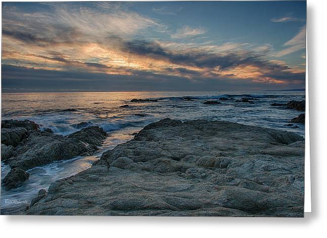 California Central Coast Greeting Cards - Pacific Grove Sunset Greeting Card by Bill Roberts