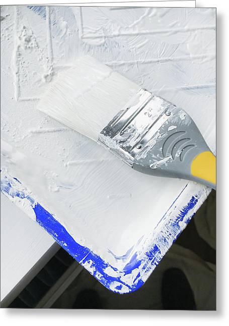Paint Brush Greeting Card by Tom Gowanlock